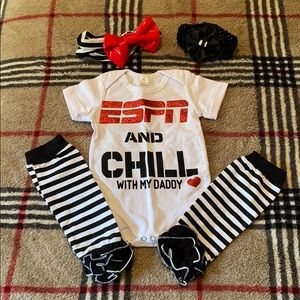 ESPN and Chill with my Daddy Baby Onsie